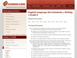 Common Core State Standards: English LA | Writing | Grade 6