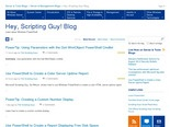Hey, Scripting Guy! Blog - Site Home - TechNet Blogs