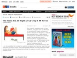 2011's Top 5 YA Novels : NPR