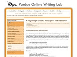 Purdue OWL: Gerunds, Participles, and Infinitives
