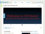 Welcome CSI by Donna Falk on Prezi