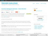 Free Tools Challenge #1: Wallwisher  Words That Stick : Teacher Challenge