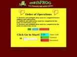 MathFROG - Order of Operations