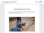 J, C and K Simple Machines Experiment