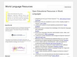 World Language Resources