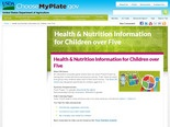 Health & Nutrition Information for Children over Five