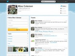 Miss Coleman's Twitter account