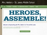 Mrs. Walters - St. James Middle School Keyboarding Home Page