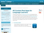 40 Coolest iPad Apps for Language Learners | Online College Tips – Online Colleges