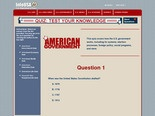 InfoUSA Quiz: American Government