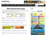 Math Quizzes and Interactive Exercises for Kindergarten, First Grade to Eigth Graders