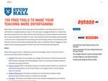 100 Free Tools to Make Your Teaching More Entertaining