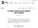 52 Great Google Docs Secrets for Students - Online Colleges