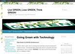 Live GREEN, Love GREEN, Think GREEN! Edublog by Shawn Hayes