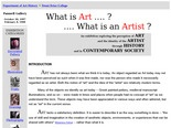 What is Art? What is an Artist? INTRODUCTION