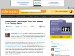 Game-Based Learning to Teach and Assess 21st Century Skills