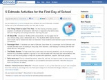 5 Edmodo Activities for the First Day of School | Edmodo – Safe Social Networking for Schools