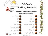 dj cows spelling patterns