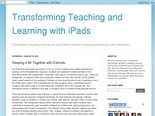 Transforming Teaching and Learning with iPads: Keeping it All Together with Edmodo