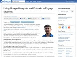 Using Google Hangouts and Edmodo to Engage Students