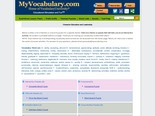Character Education and Leadership vocabulary games, Character Education and Leadership vocabulary puzzles - www.myvocabulary.com