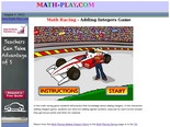 Math Racing - Adding Integers Game