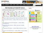 Math Worksheets, Printable Math Exercises for Preschool,  Kindergarten, First to Sixth Grades