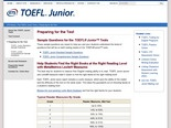 TOEFL Junior: Prepare for the Test