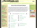 Science Movie Worksheets
