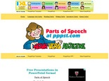 Parts of Speech - FREE Language Arts Presentations in PowerPoint   format, Free Interactives and Games