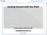 Getting Started with the iPad.pptx - Dropbox