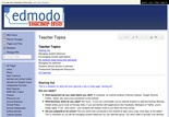 EdmodoTeacherHub - Teacher Topics