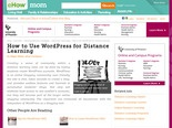 How to Use WordPress for Distance Learning | eHow.com