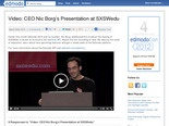 Video: CEO Nic Borg's Presentation at SXSWedu | Edmodo – Safe Social Networking for Schools