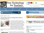 Free Technology for Teachers: The Five Best Tools for Creating Videos Without Installing Software