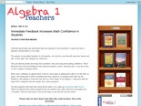 Algebra 1 Teachers: Immediate Feedback Increases Math Confidence in Students