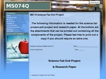MS 74 Science Fair/Exit Project - MS074Q