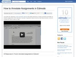 How to Annotate Assignments in Edmodo | Edmodo – Safe Social Networking for Schools