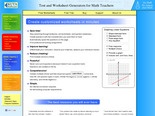 Create Custom Pre-Algebra, Algebra 1, Algebra 2, and Geometry Worksheets