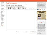 Type French accents - online French keyboard, Awesome for laptop users!