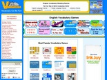 Vocabulary Games, English Vocabulary Word Games
