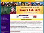 Dave's ESL Cafe: Lessons for ESL students -- Idioms, Grammar, and More