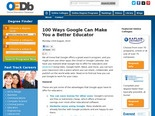 100 Ways Google Can Make You a Better Educator | OEDb