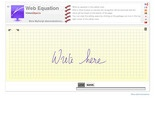 Web Equation Editor (handwritten)
