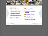 synonyms.com: The Leading Synonym Site on the Net