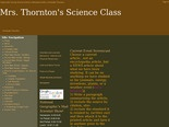 Mrs. Thornton's Science Class - Home