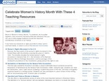 Celebrate Women's History Month With These 4 Teaching Resources | Edmodo – Where learning happens.