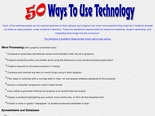 50 Ways to Use Technology in the Classroom