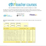 South Carolina ETV Teacher Courses
