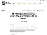 15 Famous & Successful People Who Were Bullied in School